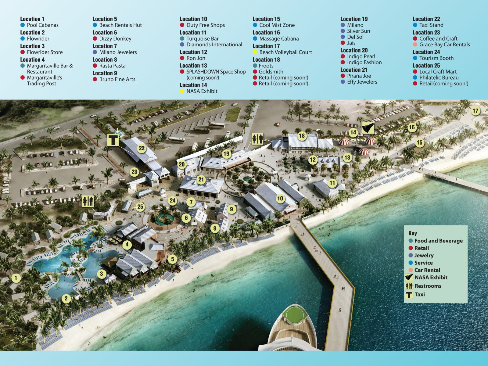 Cruise Center Map - Turks and caicos cruise ship schedule